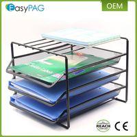 Office Supplies Desk Organizer 3 Trays Metal Mesh File Organizer Document Holders