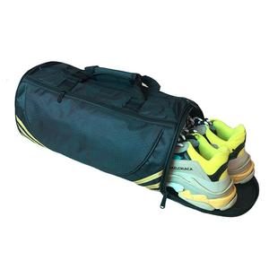 High quality OEM polyester waterproof gym sport bag durable travelling bags set gym bag with shoe compartment