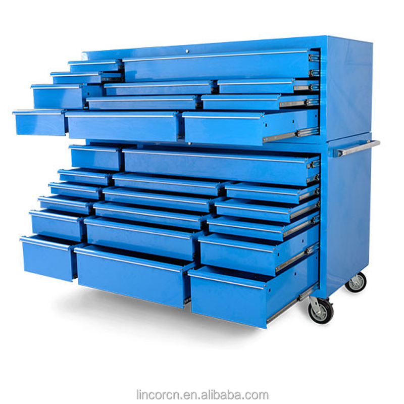 72 Extreme Tool Box 28 Drawer Stainless Steel Top Roller Cabinet