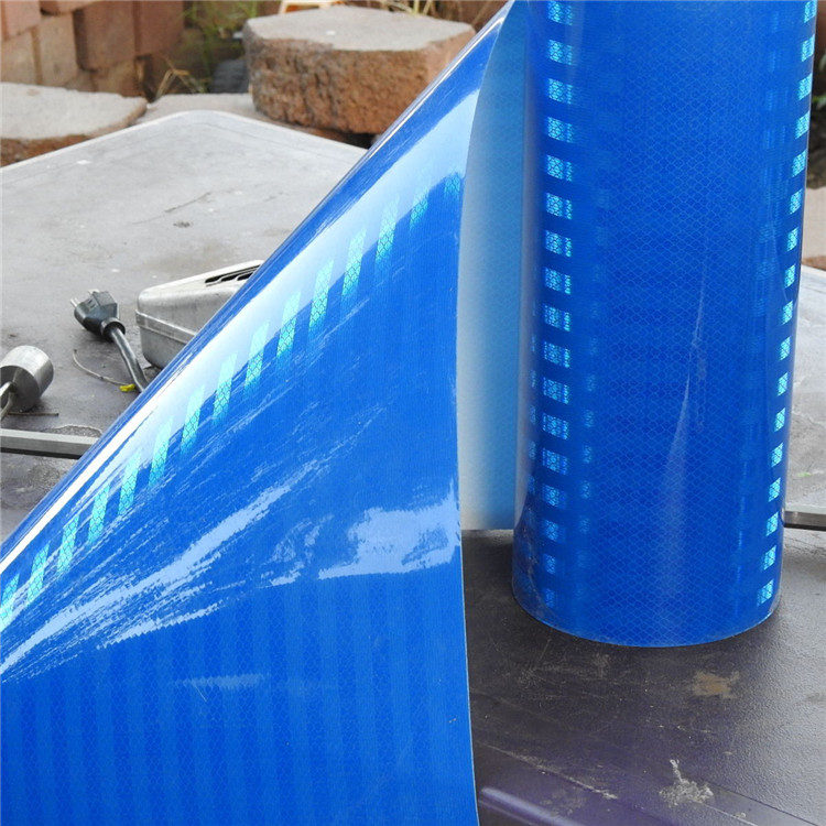 High Intensity Blue Micro Prismatic Sheeting Reflective Film For Road Signs