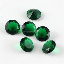 AAA wholesale round emerald color glass gems for jewelry setting