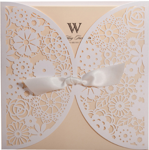 Hot stamping European style white wedding candy box for sale