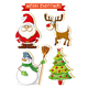 Wholesale Christmas stickers for crafts PVC Window stickers for pumpkin decorating kids party favors
