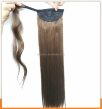 wholesale 100% Brazilian straight vrigin human hair weave 140g remy human ponytail hair