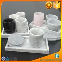 Natural marble dining set/carrara marble tray