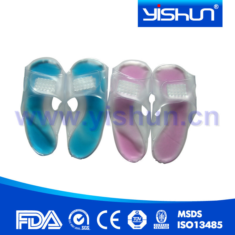 rsusable medical soft pvc gel ice pack slipper