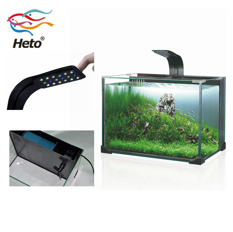 27L  mini fashion glassmini aquarium fish tank for home office hotel acrylic fish betta