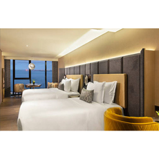 High density board of wooden furniture beds modern hotel bed room sets