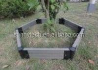 Lightfast decorative garden easy to install wood plastic composite WPC flower pots,moisture proof plant box