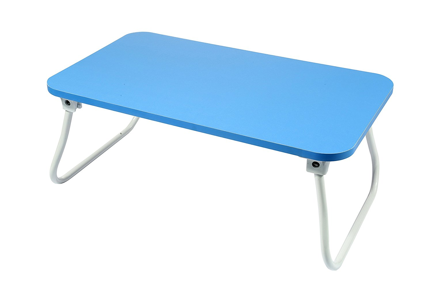"""Homebi Lap Desk Tray Table Laptop Stand Portable Bed Desk Breakfast Tray for Bed Couch and Sofa with MDF Top Board and Foldable Metal Legs (9.06""""H, Blue)"""
