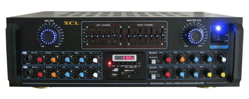 karaoke mixing amplifier with USB/SD/FM/EQ