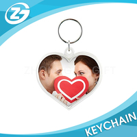 Recycle Factory Promotional Clear Plastic Acrylic Photo Keychain