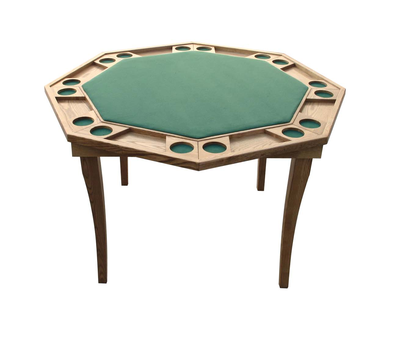 52 Oak Octagon Poker Table W/folding Wood Legs   Buy Poker Table Product On  Alibaba.com