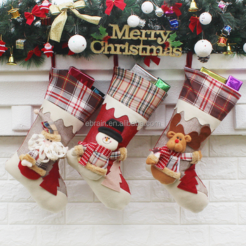 buy snowman decorations wholesale storage bag candy gift bag stocking online christmas tree decoration supplies