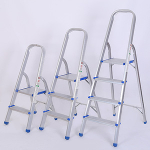 3/4 /5/6/7Step stainless steel tube folding ladders with handrail