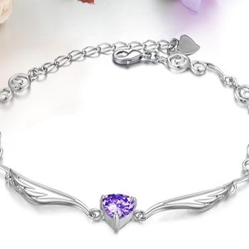 2017 New Design Las Charm 925 Italian Silver Bracelet