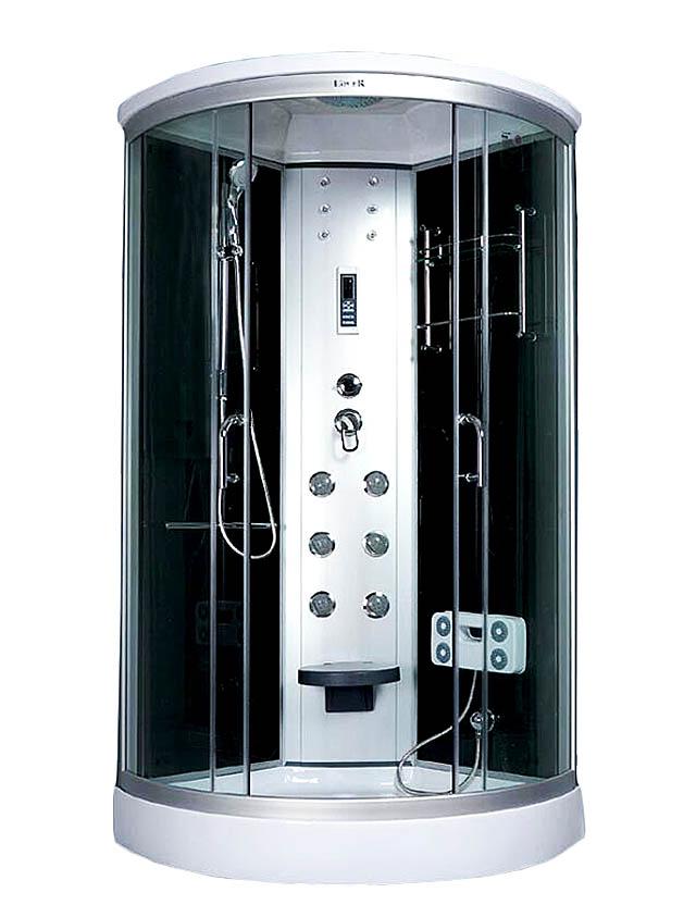 Bathroom Enclosed Corner Steam Shower Bath With Walk In Tub In Low ...