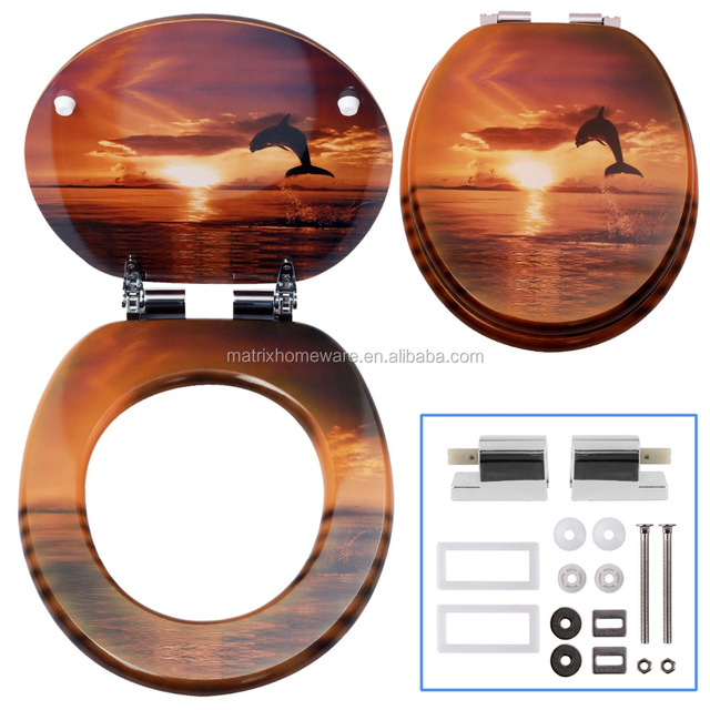 self closing toilet seat lid. Ocean Sea Life Themed Dolphin Printed Toilet Seats Lid Covers With  Adjustable Soft Slow Silent Gentlysoft close zinc alloy chrome plated toilet seat hinges Self Closing Seat Full Image for Fascinating
