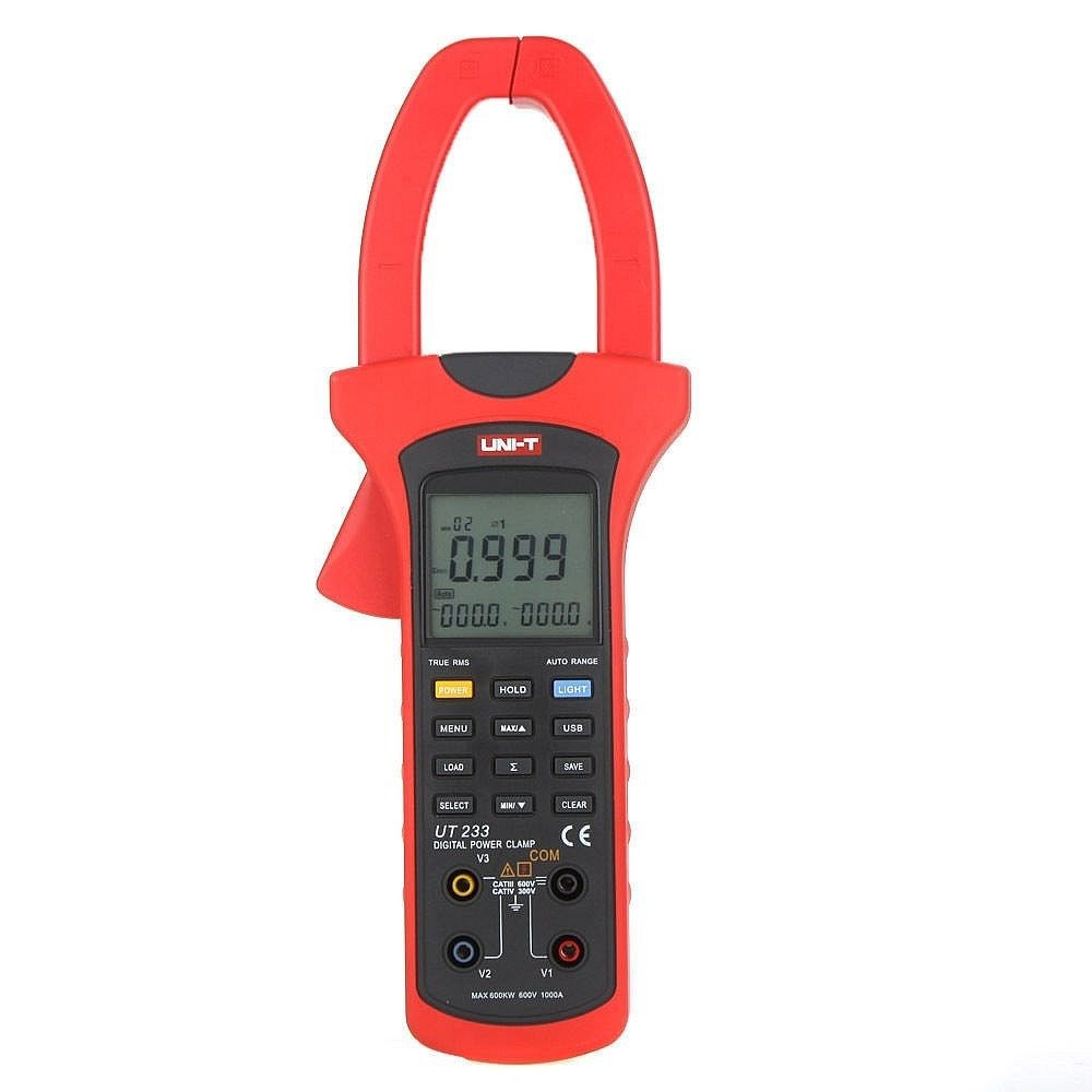 True RMS AC Value USB Digital Clamp Multimeter Power Meter