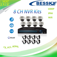 Bessky Dome Camera Wireless IP Security Surveillance System 2 megapixel ip camera with antenna