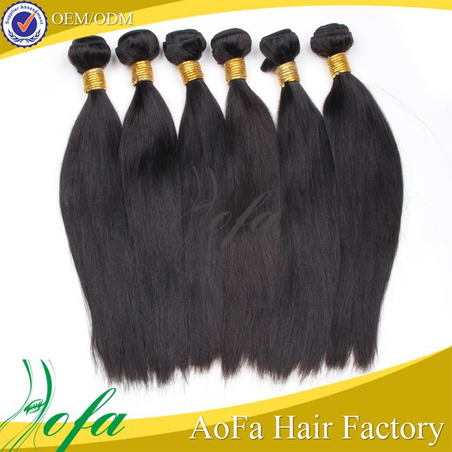 Most fashional real human hair weft 1000% unprocessed Indian hair straight