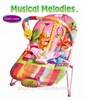14.2 wholesale kids baby bouncer toddler vibrating musical high quality rocker with Adjustable backrest