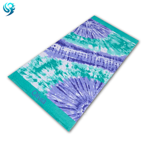 soft 100% cotton velour printed custom dry wholesale towel