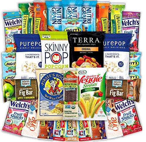 Canopy Snacks – Healthy Snacks (30 Count) Care Package - Variety Snack Box Gift Pack – Assortment of Fruit Snacks, Granola Bars, Popcorn and Veggie Chips for Kids and Adults