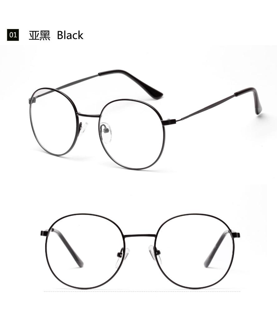 W-1006 runde edelstahl brille unisex design-student brillenfassungen ...