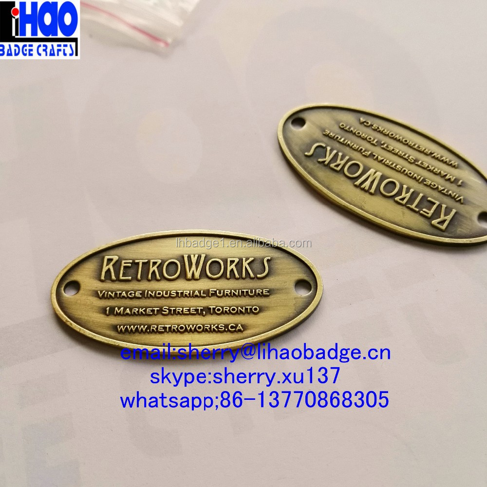 Zinc alliage de polissage grav tiquettes m talliques for Plaque de zinc pour recouvrir un meuble