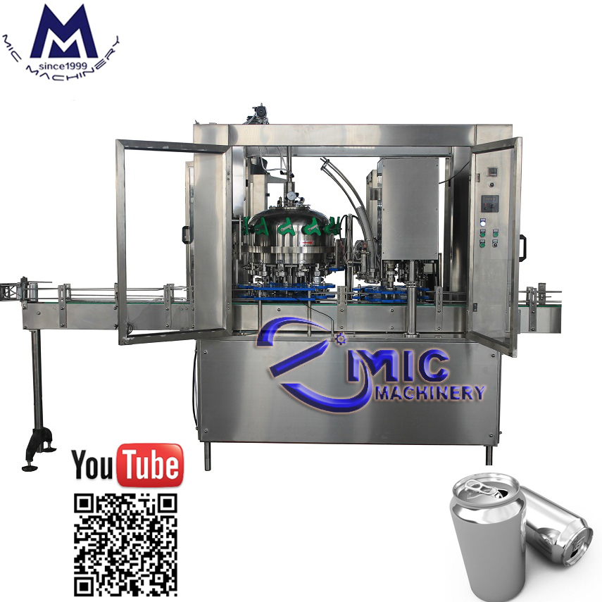 MIC-12-1 carbonated beverage can filling machine