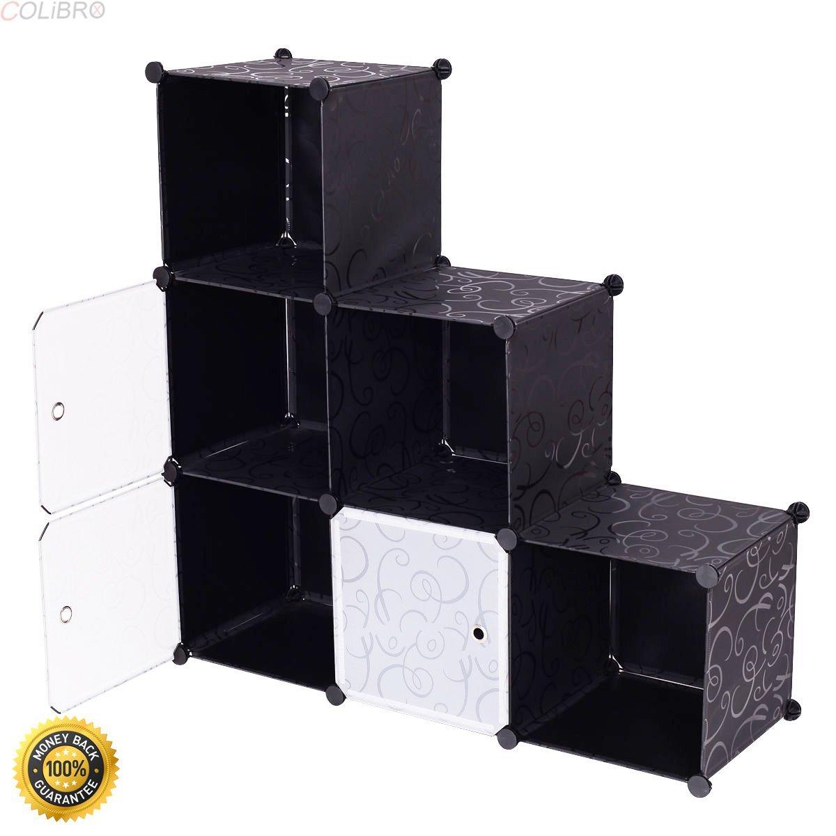 COLIBROX--3 Tier 6 Cubic Bookcase Storage Cabinet Shelf Closet Organizer Home Furniture,folding shelves bookcase,bookshelves furniture,bookshelves cheap,home depot bookcases,6 cubic Bookcase