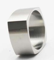 Men Silver Finger Rings 316L Stainless Steel Men's Custom Engraved Square Ring