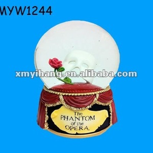 mask personalized customize rose themed polyresin flower water globe