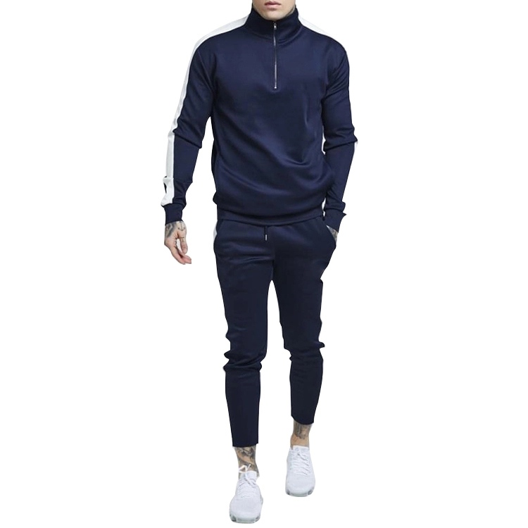 China factory OEM mock neck polyester tracksuit men summer tracksuit, Multiple;can be customized