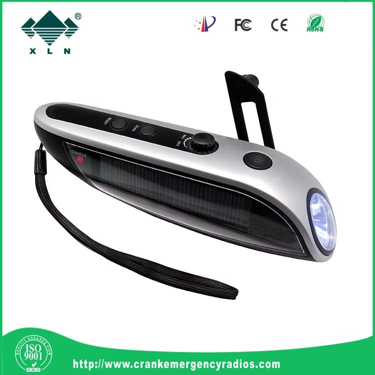 High quality solar dynamo radio with LED torch and cell phone charger