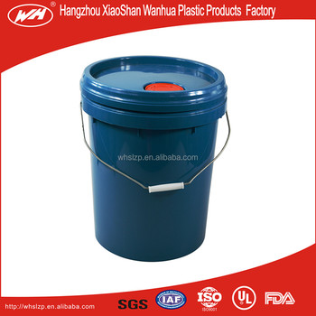 5gal plastic bucket with metal handle oil bucket paint bucket UN bucket
