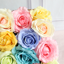 Artificial flowers roses head wedding flowers