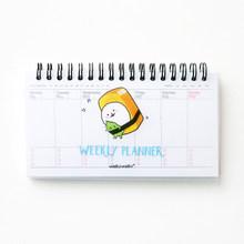 Мини-книга sashimi week plan memo book, 80 листов, ежедневник, планировщик, органайзер для ноутбука Sushi, канцелярские принадлежности, школьные принадлежн...(Китай)