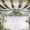 Indian mandap wedding decoration swag drape