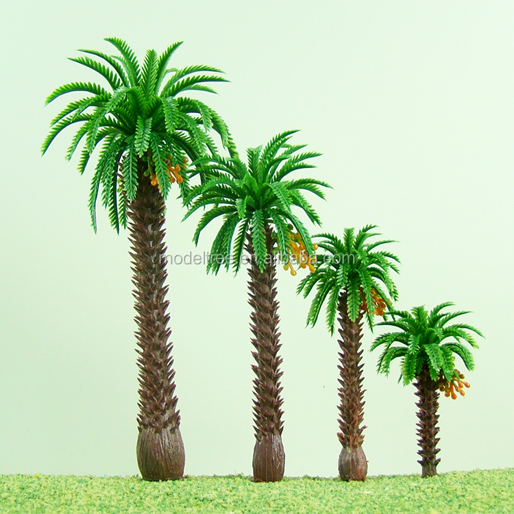 Palmera artificial al por mayor de plástico mini escala