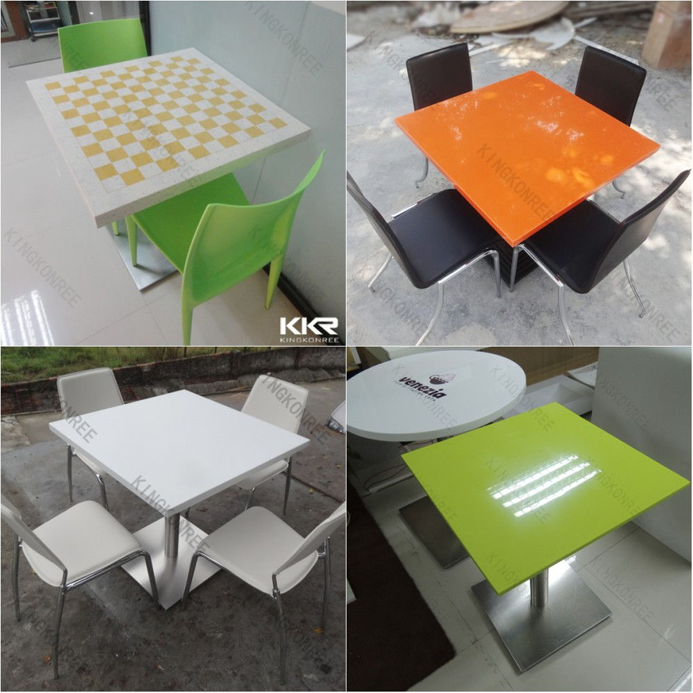 Modern cafe chairs and tables - Solid Surface Modern Cafe Tables And Comfortable Chairs