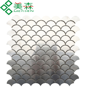 Stainless steel fan shaped mosaic tile for wall design WGE-06