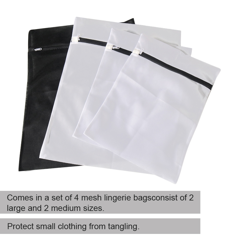 Cross-border direct selling of 4 size square laundry bags bra special mesh Wash bag travel reusable cloth laundry bags