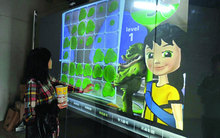 24 inch interactive touch foil film, 6 touch points capacitive film for window shop