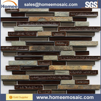 China Glass stone mosaic Foshan the most popular home NC05 mosaic tile