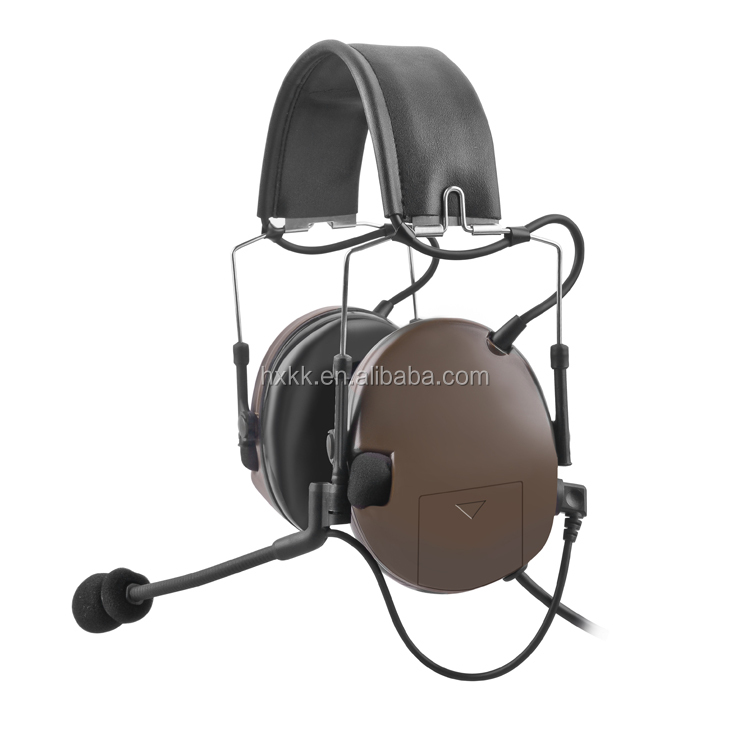 Noise cancelling voice activated walkie talkie headset for motorola GP328/320