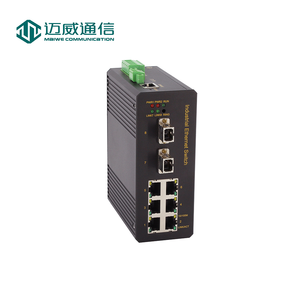 Layer 2 din rail managed 8 Port Gigabit BY-PASS Industrial Ethernet Switch