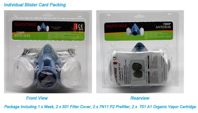 Ce En 140 Reusable Half Mask Respirator Gas Mask With Dual