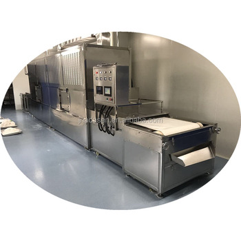 Full automatic tunnel type microwave herbs drying and sterilization machine
